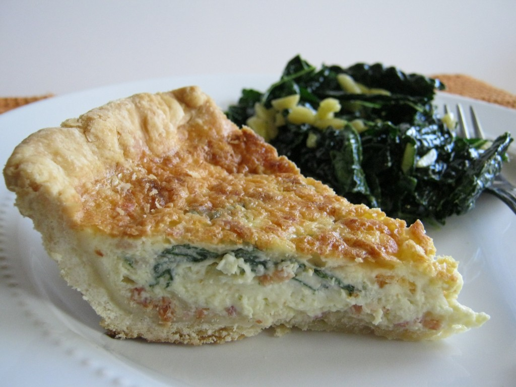 Quiche Lorraine with Kale Salad 002