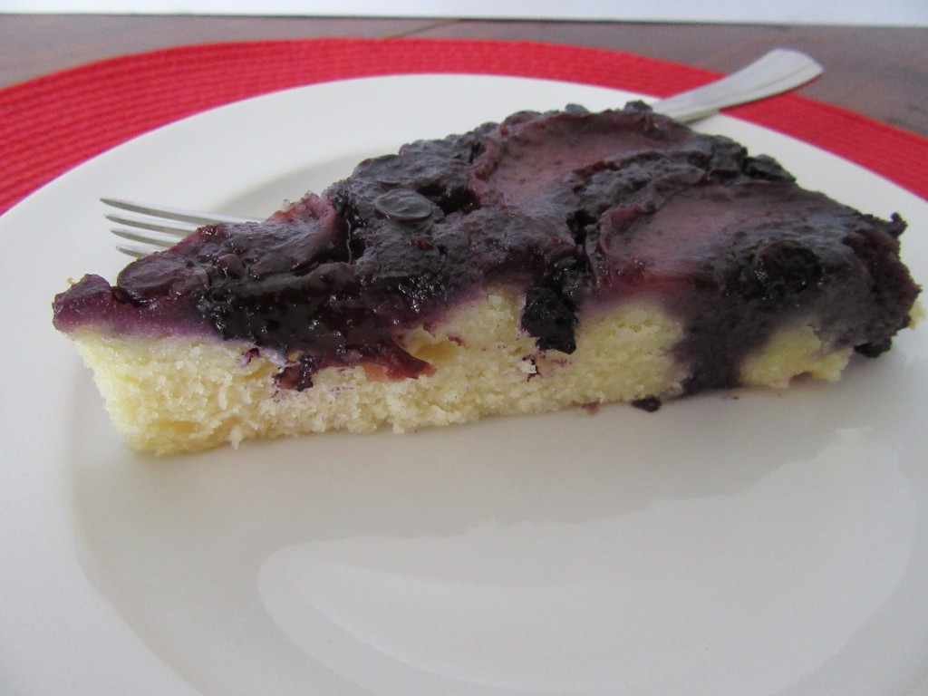 Blueberry Peach Upside Down Cake 015