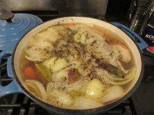 Chicken Broth, Soup and Cookies 001