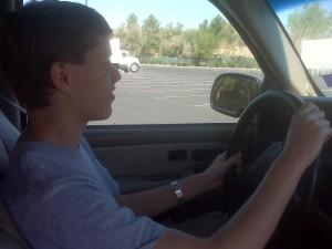Grant driving