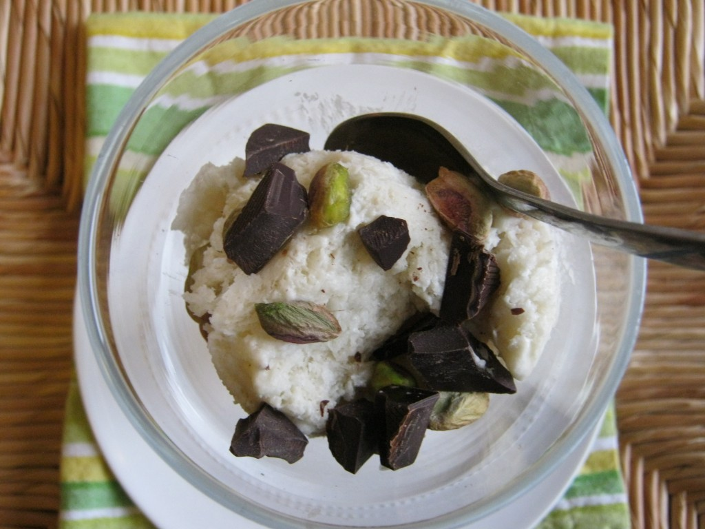 Pina Colada Ice Cream with Pistachios 007