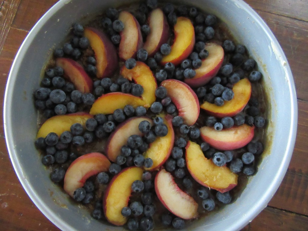 Blueberry Peach Upside Down Cake 002